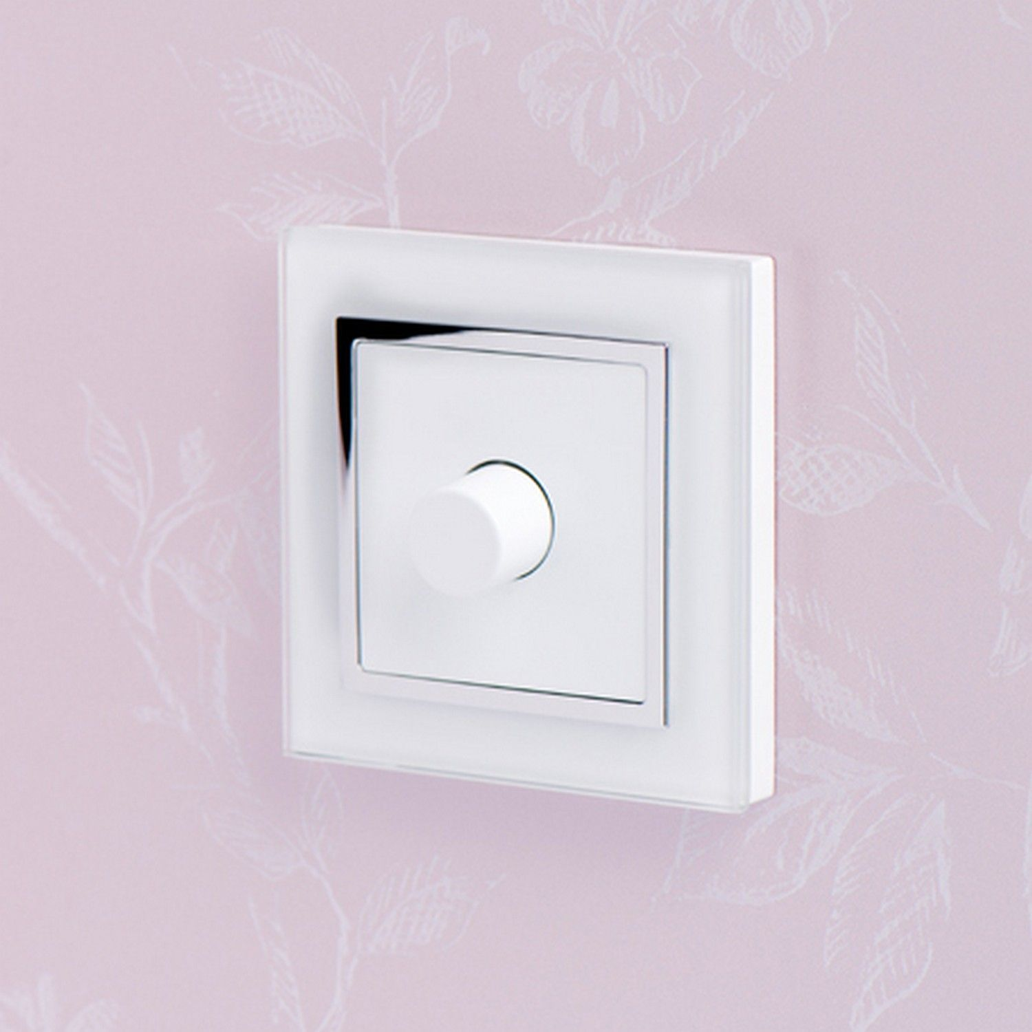 Retrotouch 1 Gang 2 Way Dimmer Switch 3 200w Led Halogen White Light Plate Glass Ct